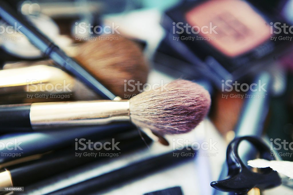 makeup brushes royalty-free stock photo