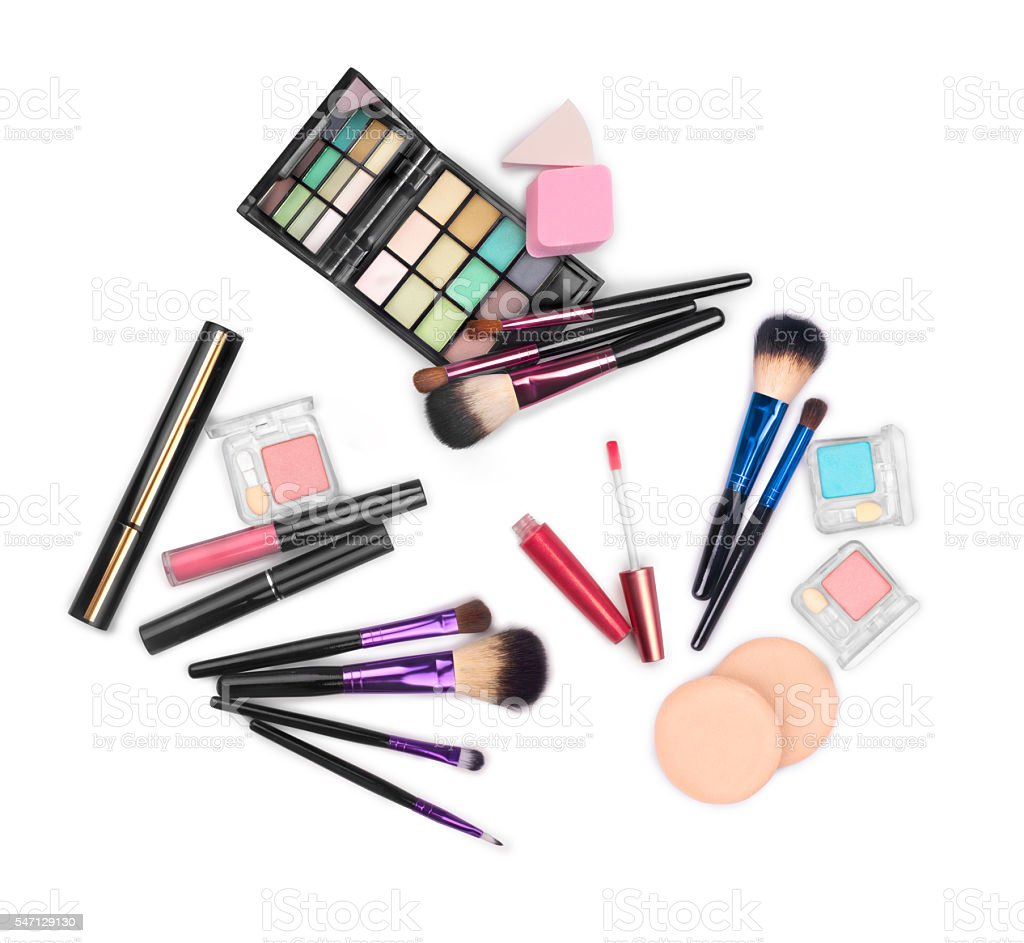 makeup brushes set for professional stock photo