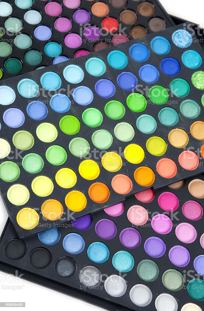 Makeup color palette royalty-free stock photo