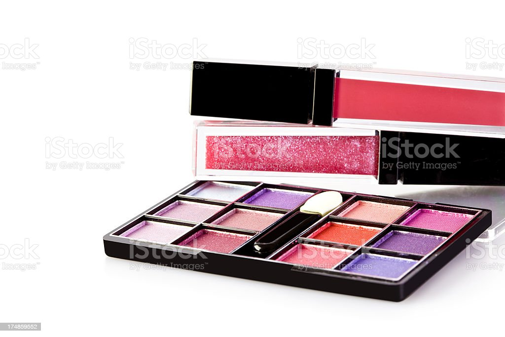 Make-up cosmetics isolated royalty-free stock photo