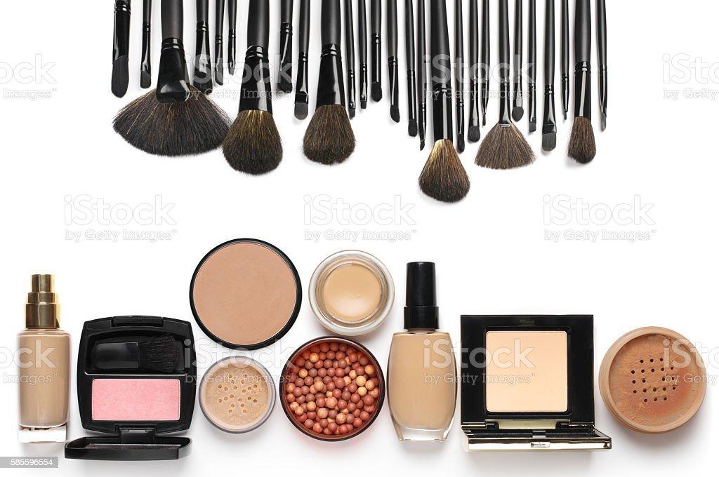 Make-up cosmetics set stock photo