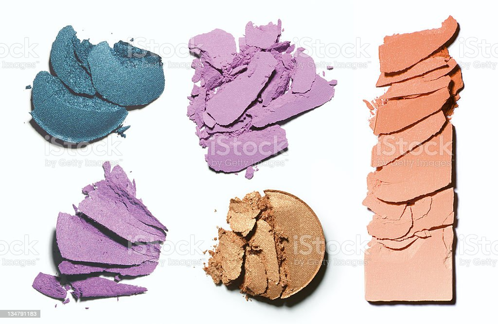 Make-up crushed blush and eyeshadow stock photo