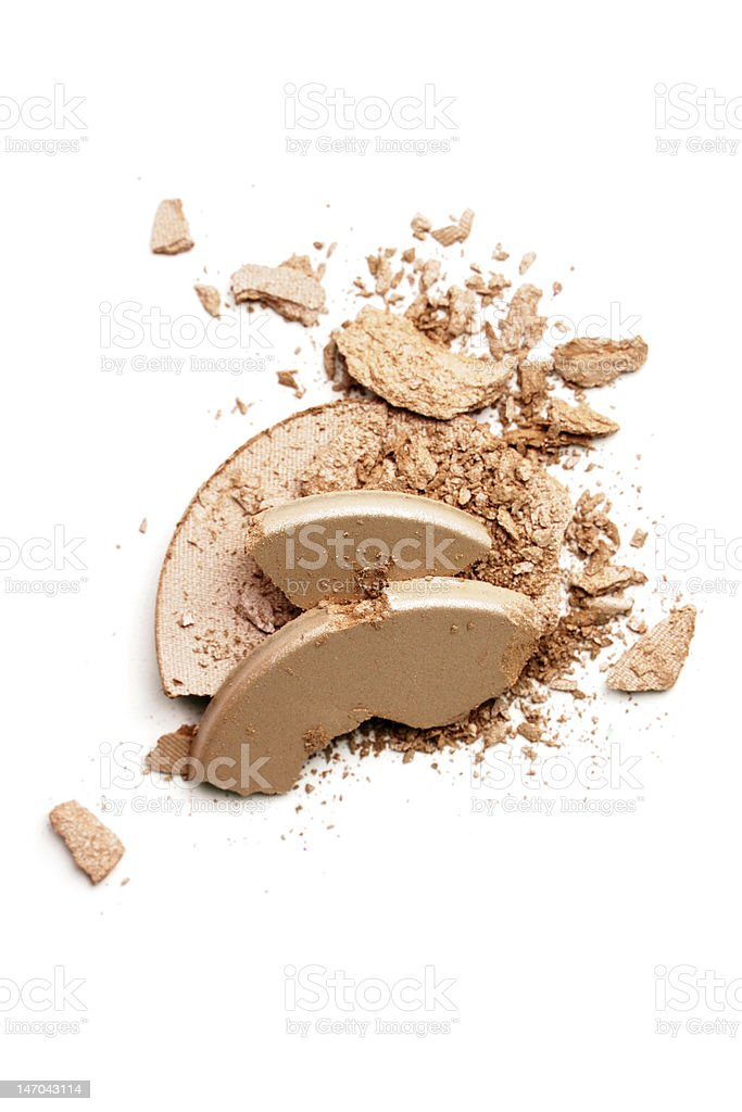 Make-up crushed eyeshadow royalty-free stock photo