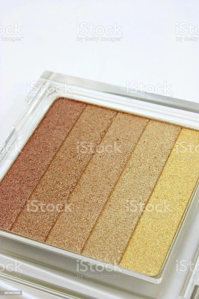 Makeup, eye shadow, a set of shades royalty-free stock photo