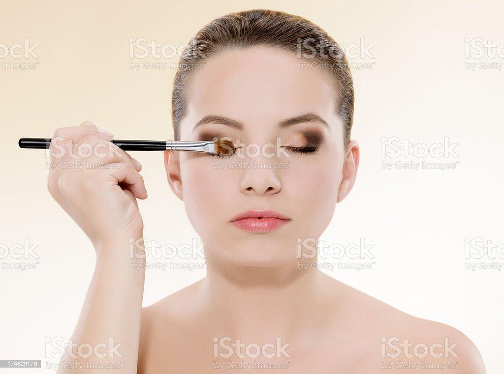 makeup eyeshadow royalty-free stock photo