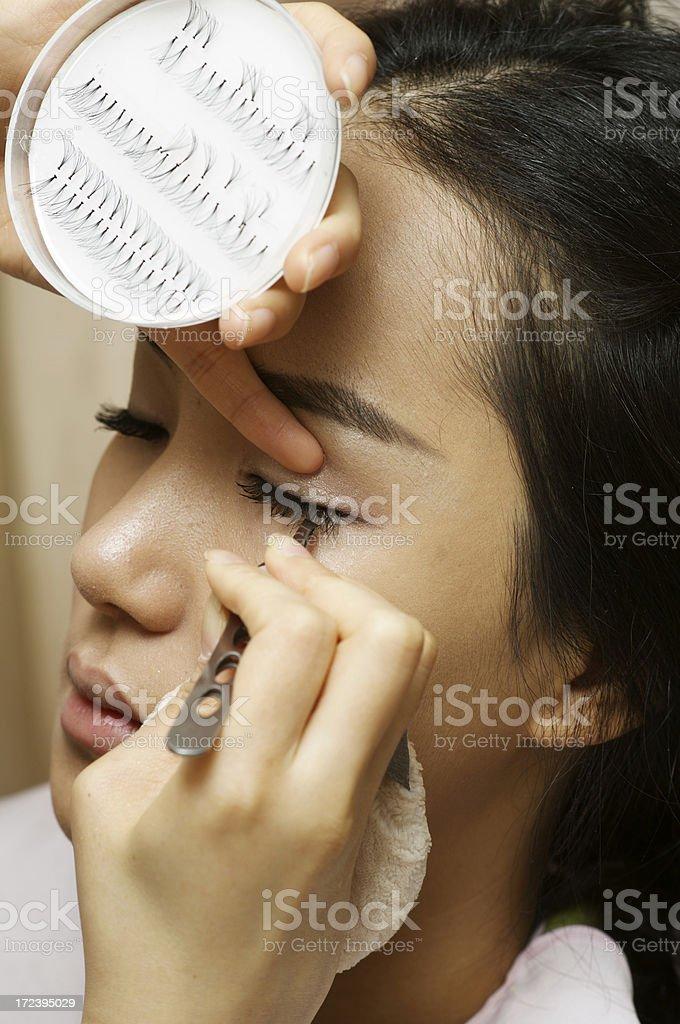 Make-up -fake eyelashes royalty-free stock photo