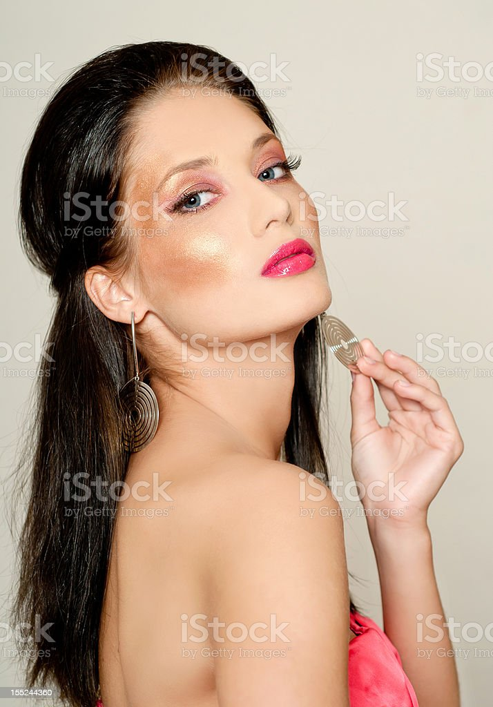 Makeup & Fashion royalty-free stock photo
