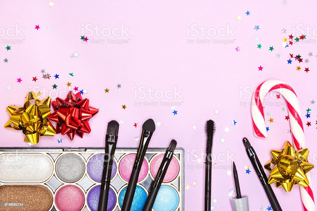 Makeup for festive party stock photo