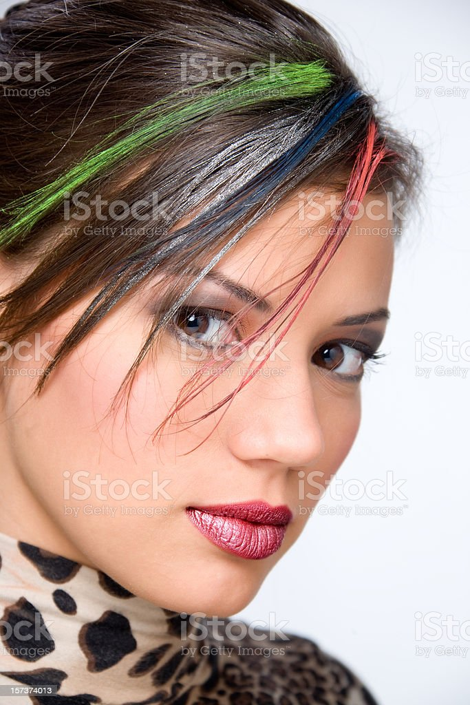 make-up girl royalty-free stock photo