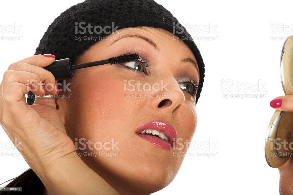 Makeup girl royalty-free stock photo