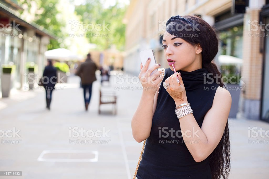 makeup in the street royalty-free stock photo