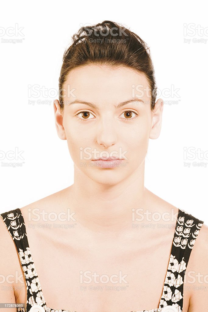 make-up instrusction - after powder royalty-free stock photo