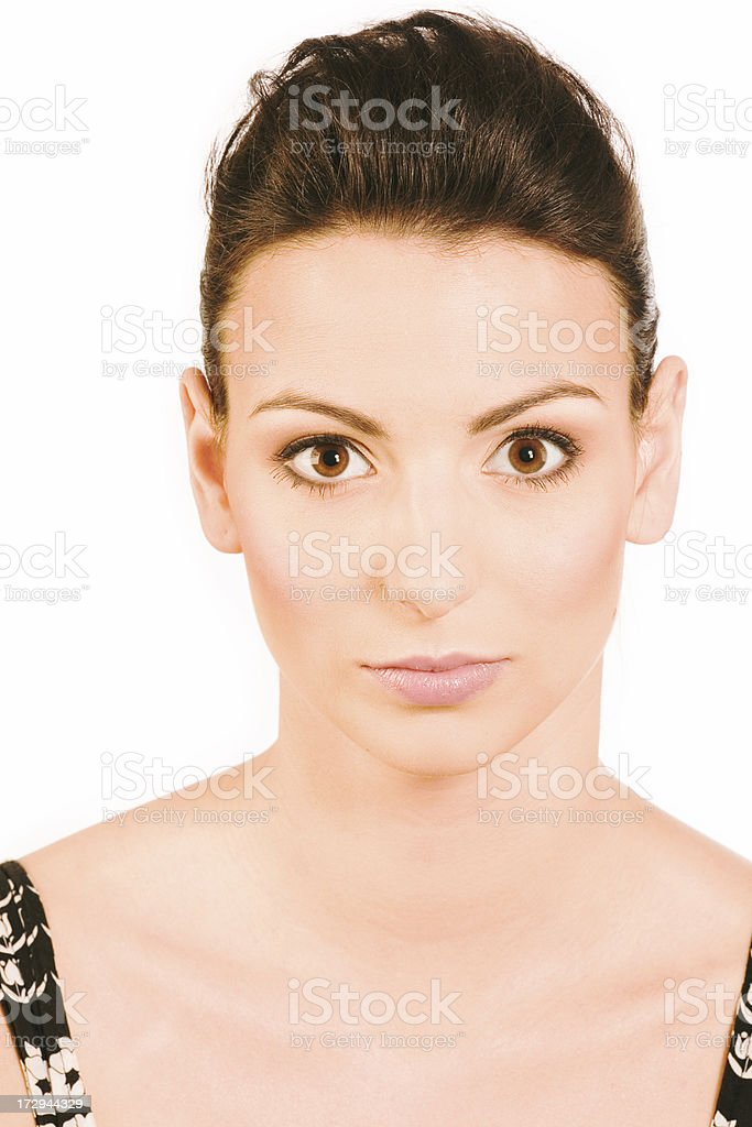 make-up instrusction - full makeup royalty-free stock photo