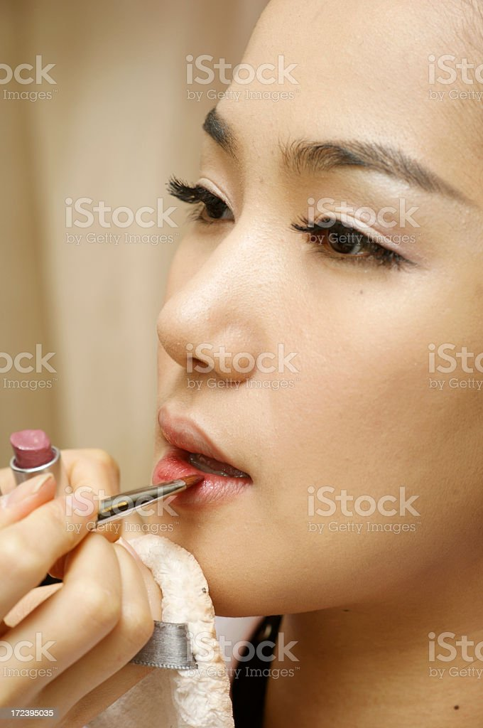 Make-up - lipstick royalty-free stock photo