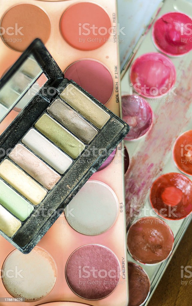 Makeup material and cosmetics royalty-free stock photo