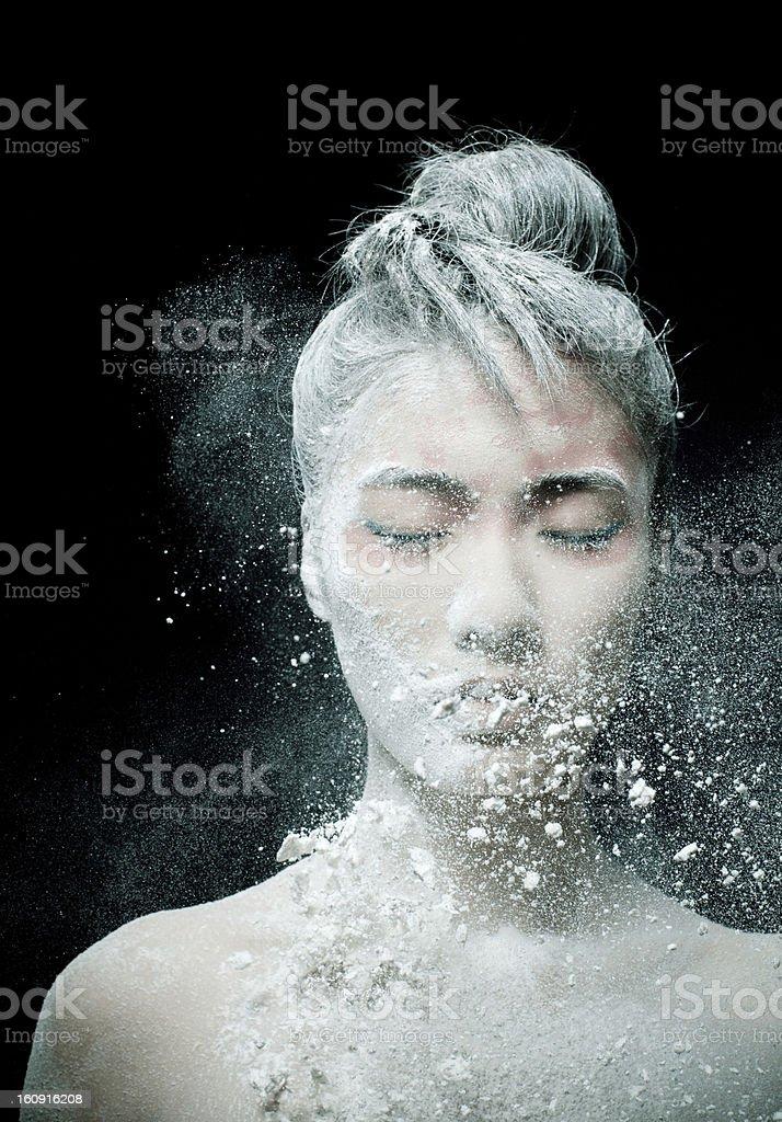 Make-up of Asian woman royalty-free stock photo