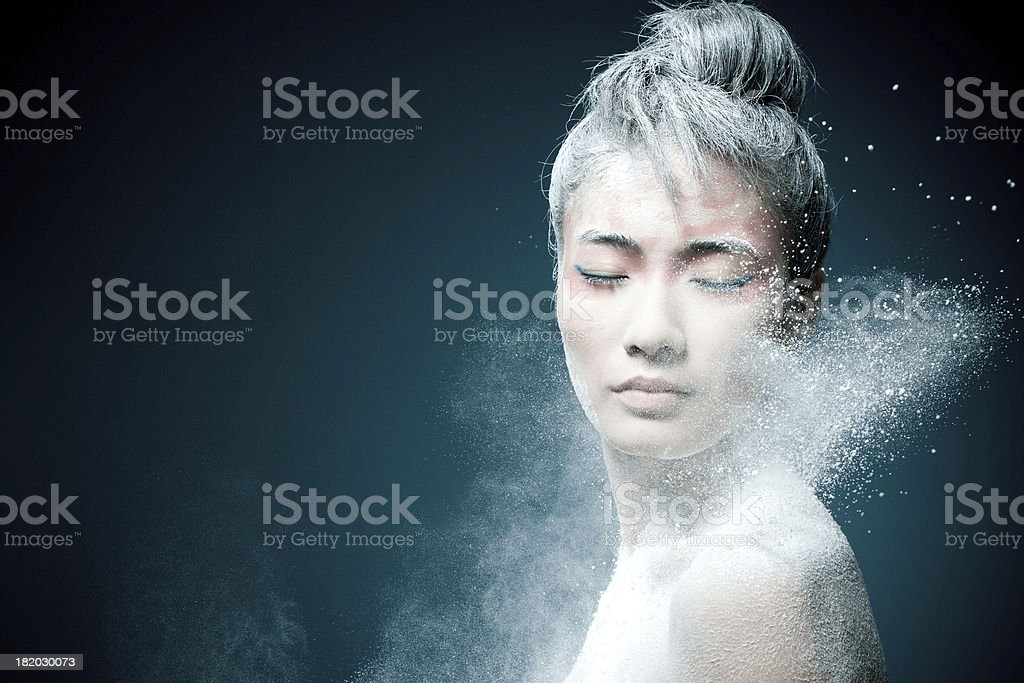Make-up of Asian woman stock photo