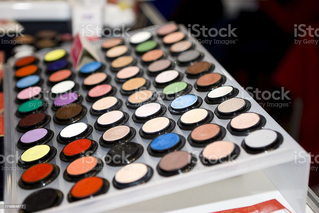 Make-up on shop display royalty-free stock photo