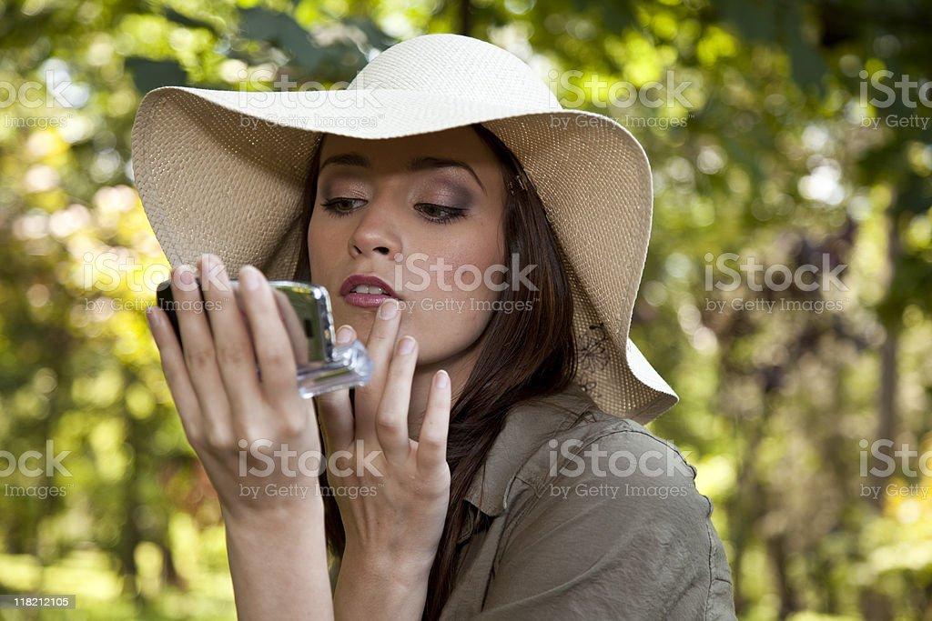 Make-up outdoors royalty-free stock photo