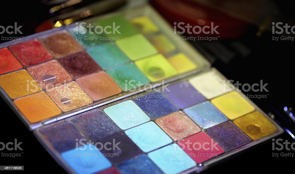 Make-Up Palette royalty-free stock photo