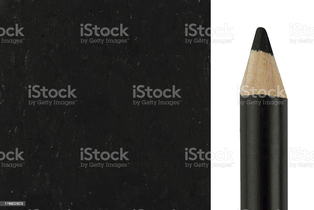 Makeup pencil with sample stroke royalty-free stock photo