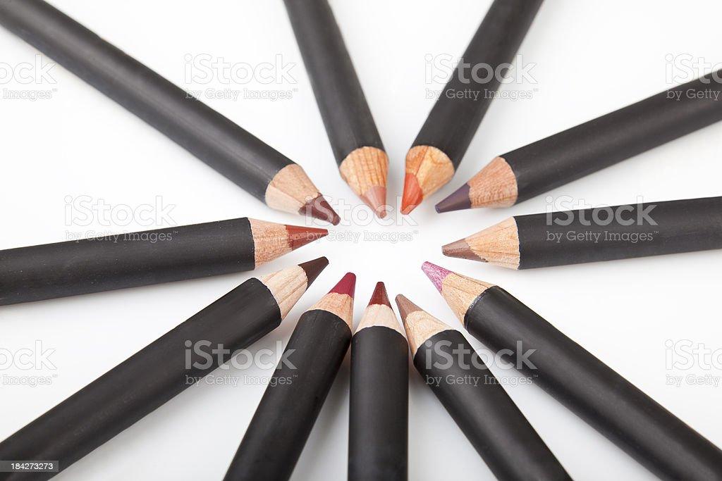 Makeup pencils stock photo
