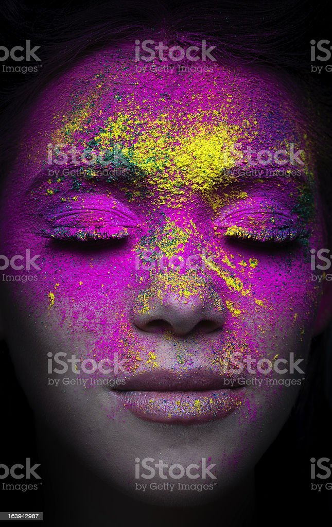 makeup portrait royalty-free stock photo
