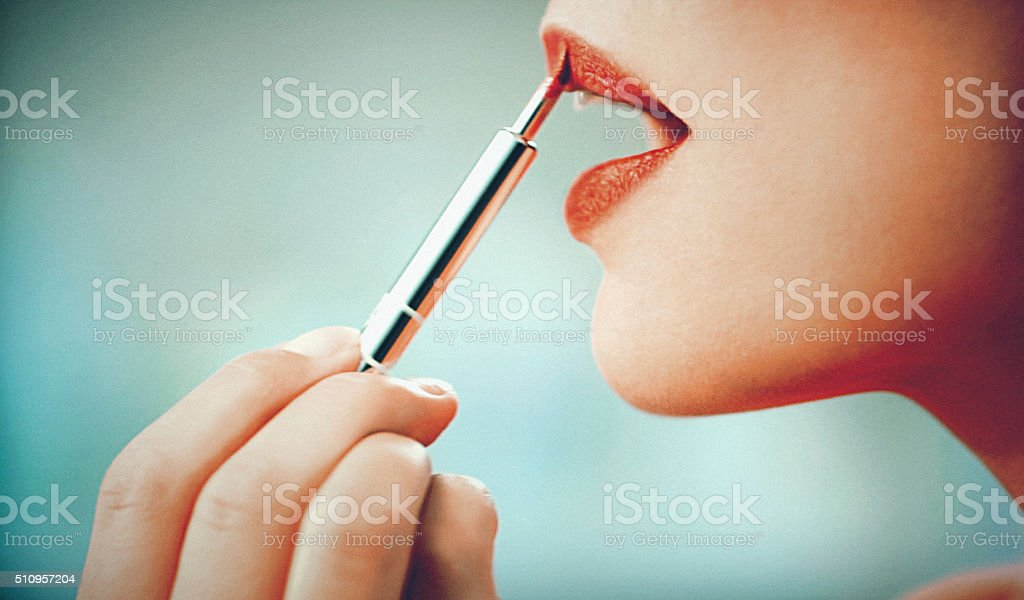 Makeup procedure. stock photo