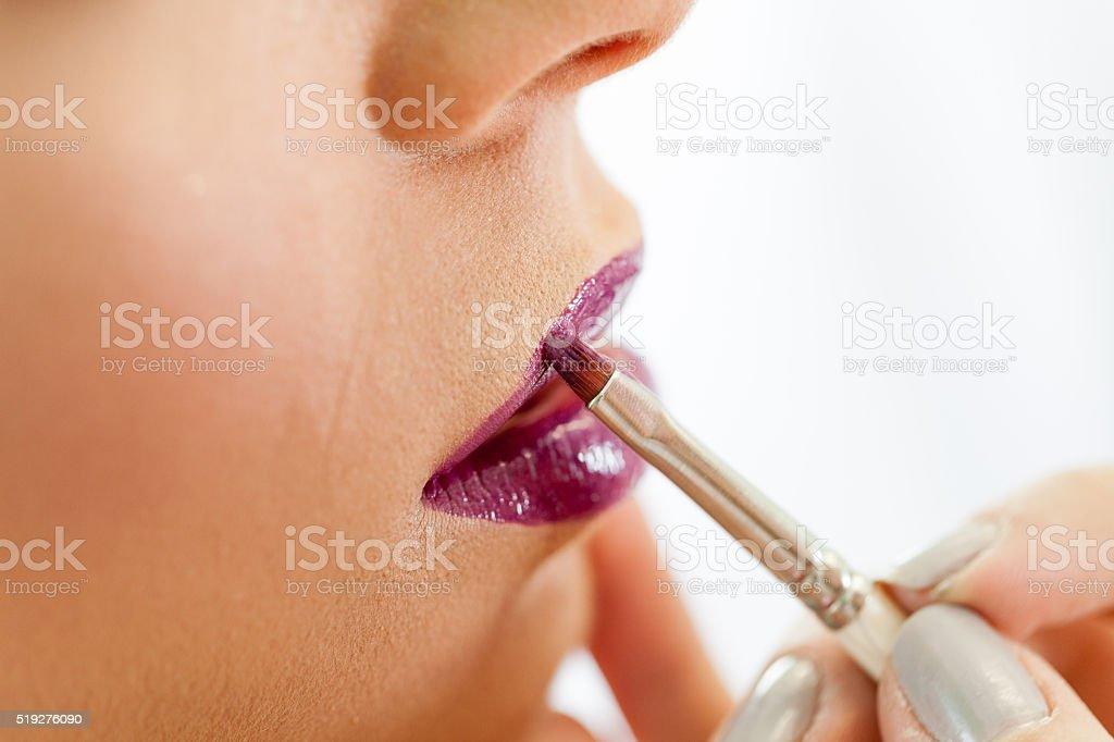 Makeup procedure stock photo