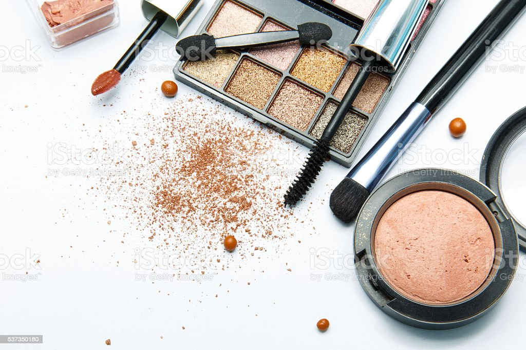 makeup products stock photo