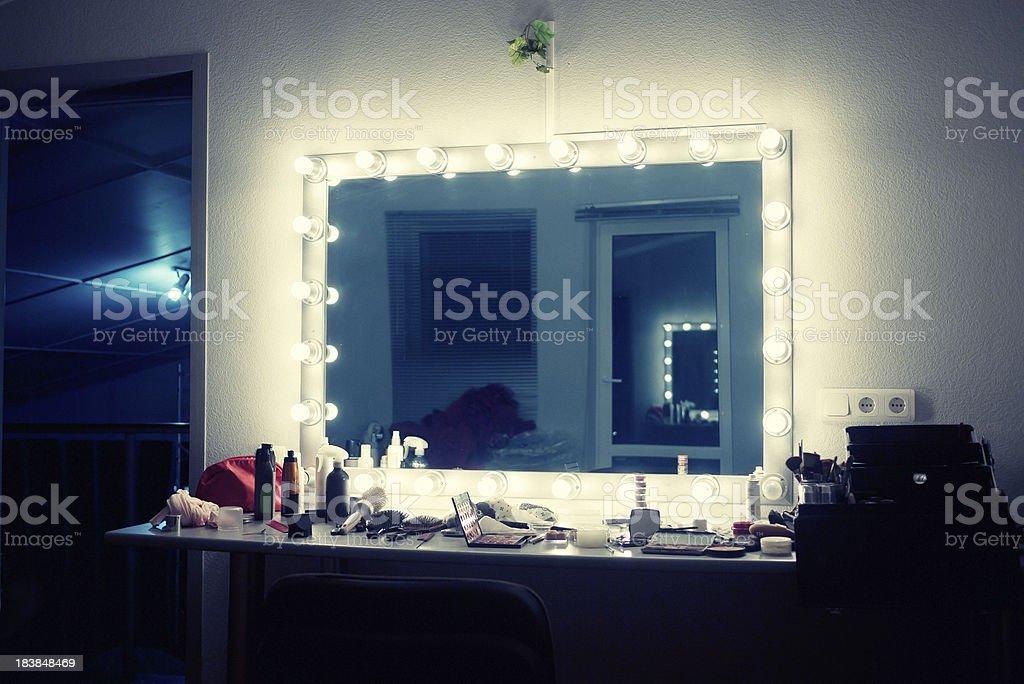 make-up room stock photo