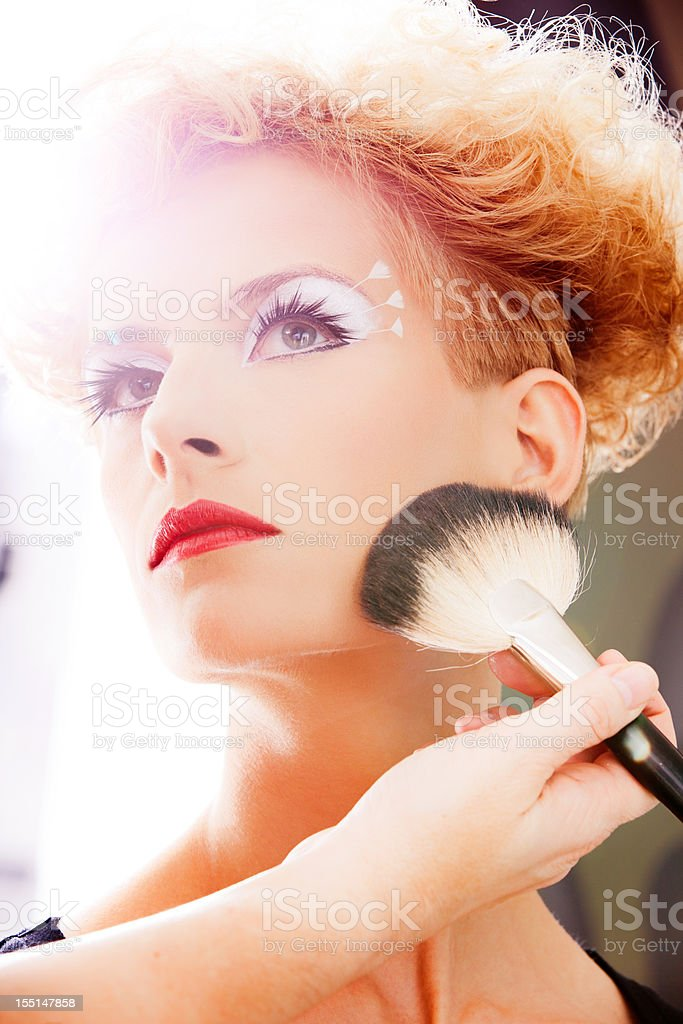 Make-up session royalty-free stock photo