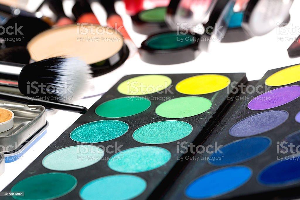 Make-up set stock photo