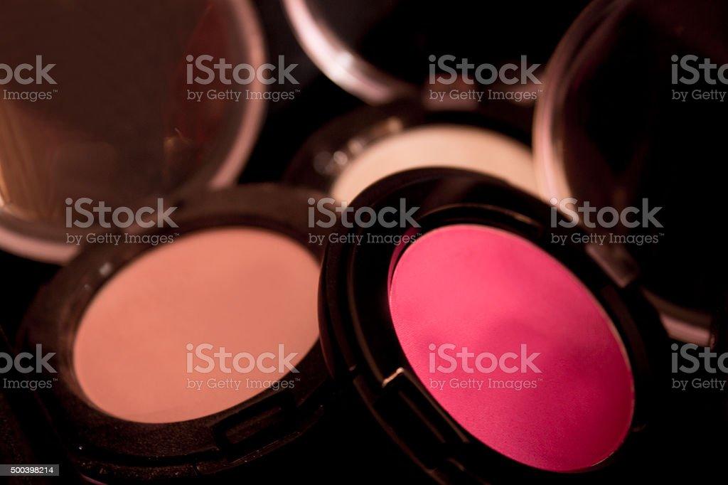 Makeup shadows floating. stock photo