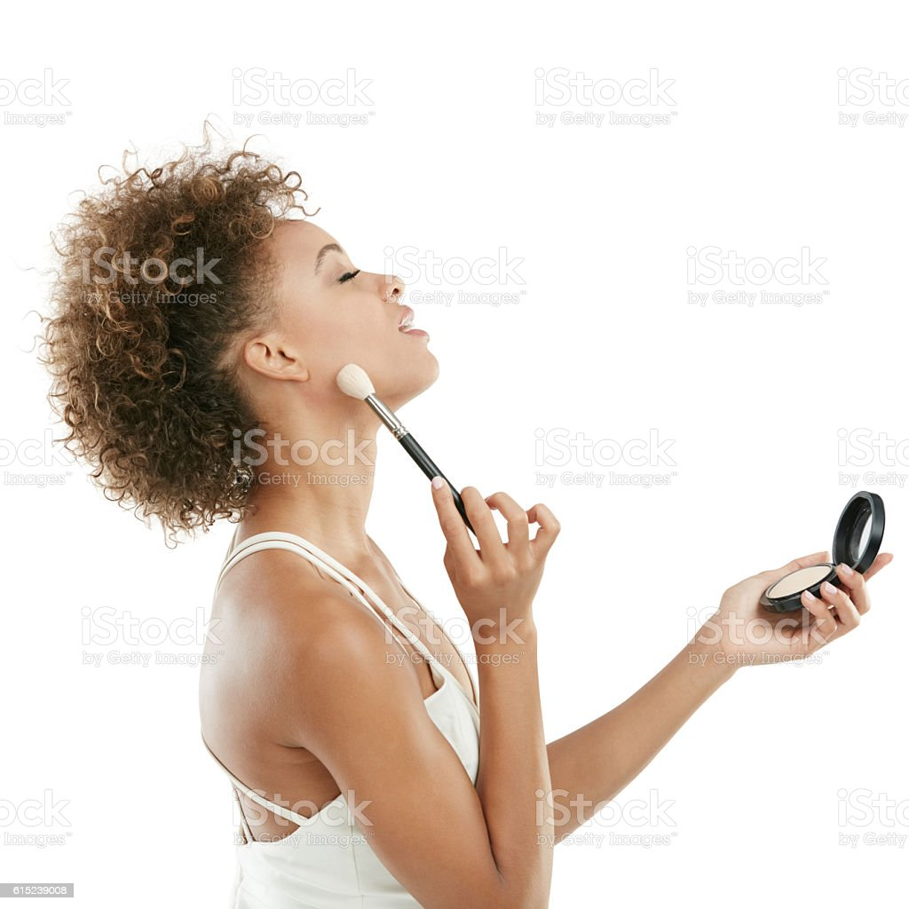 Makeup so natural it's like a second skin stock photo