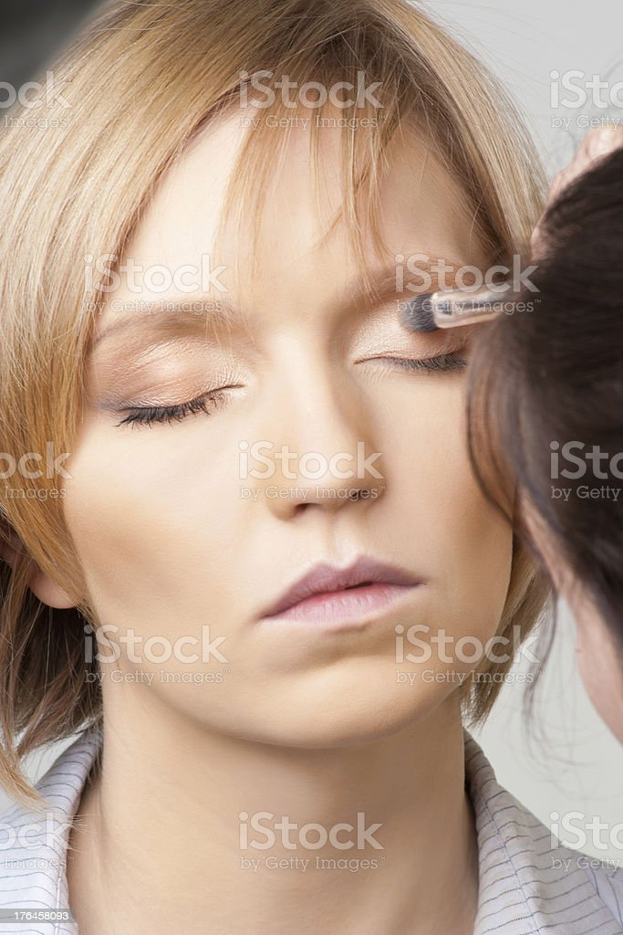 Makeup stage royalty-free stock photo