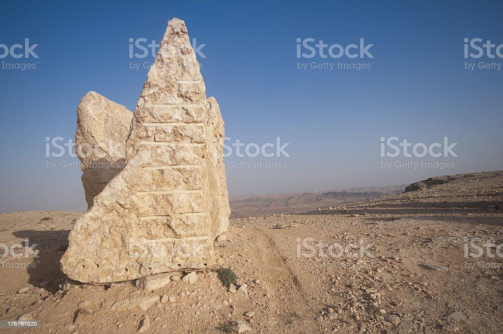 Makhtesh Ramon, Negev, Israel royalty-free stock photo