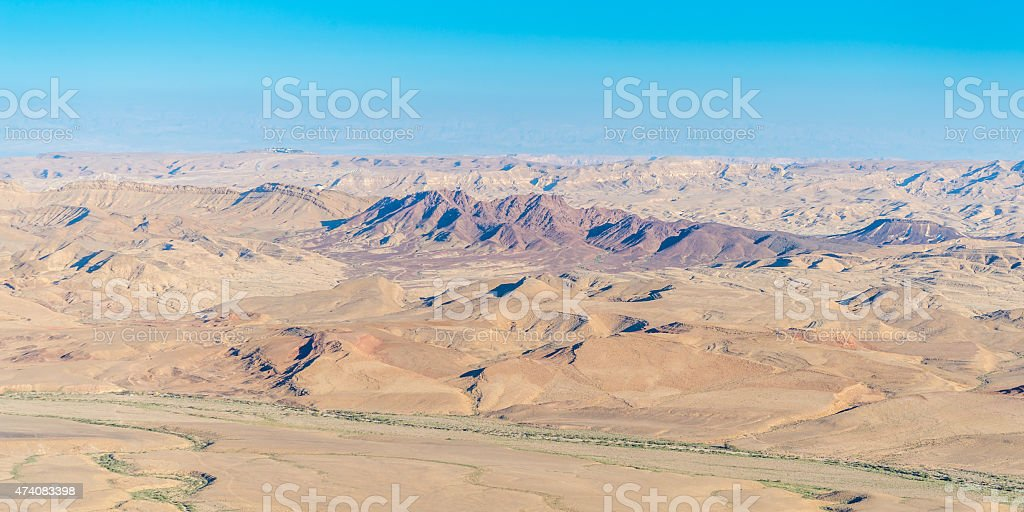 Makhtesh Ramon stock photo