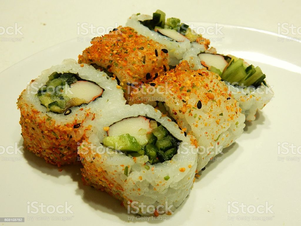 Maki Sushi -  California Roll stock photo