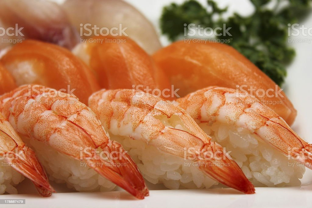 Maki Sushi on the plate royalty-free stock photo