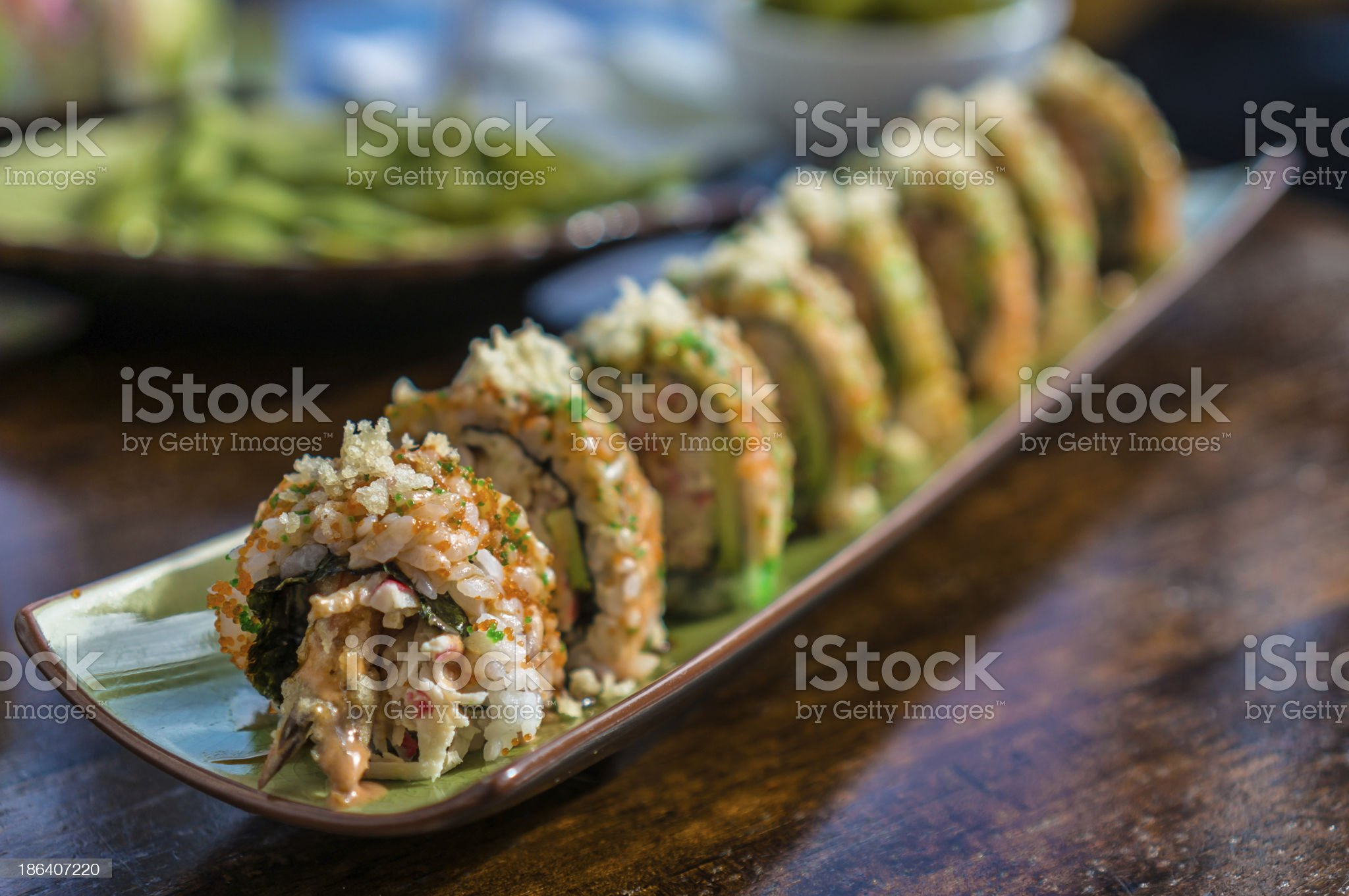 Maki sushi roll royalty-free stock photo