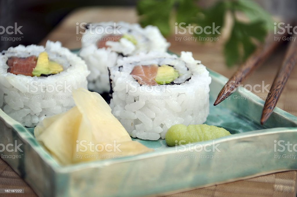Maki sushi, shallow DOF royalty-free stock photo