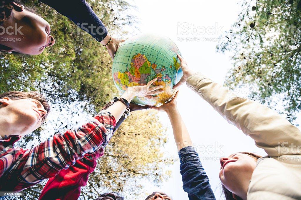 Making a better world stock photo