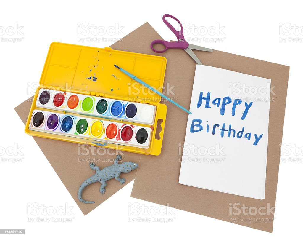 Making a Birthday Card royalty-free stock photo
