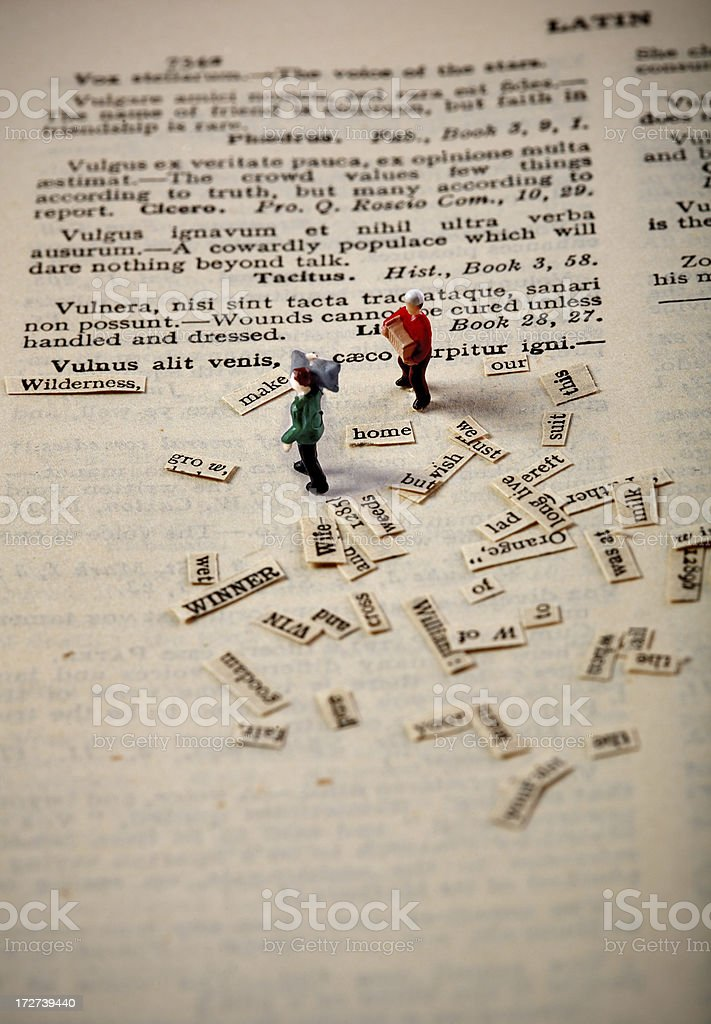 making a book stock photo