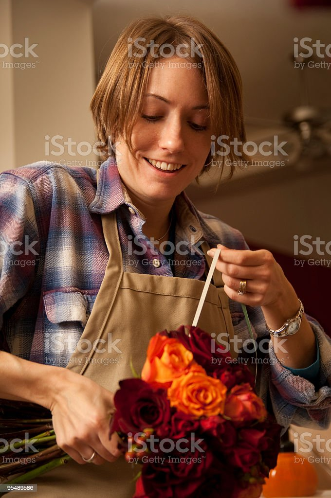 Making a Bouquet royalty-free stock photo