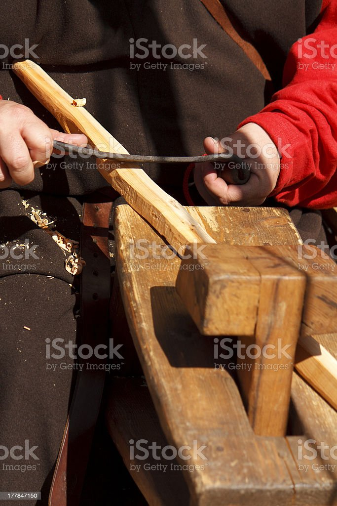 Making a bow stock photo