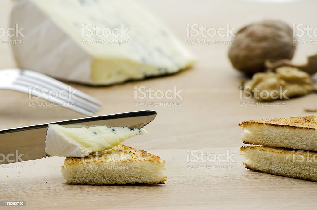 Making a breakfast royalty-free stock photo