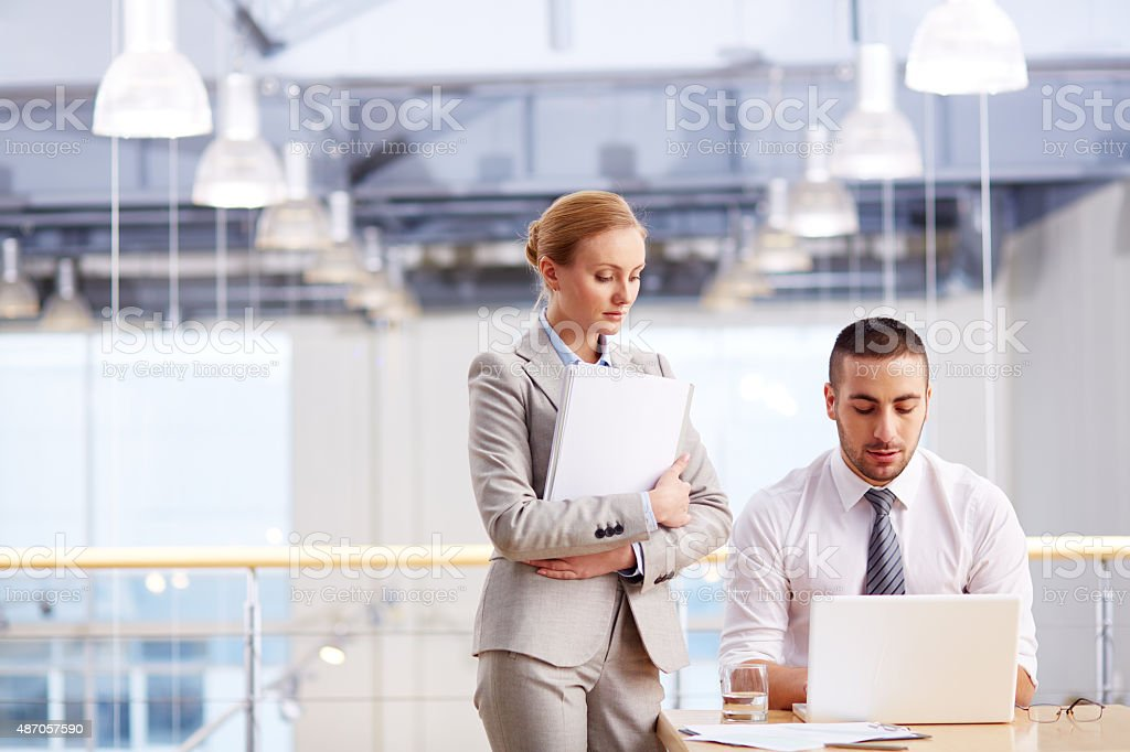 Making a business plan stock photo