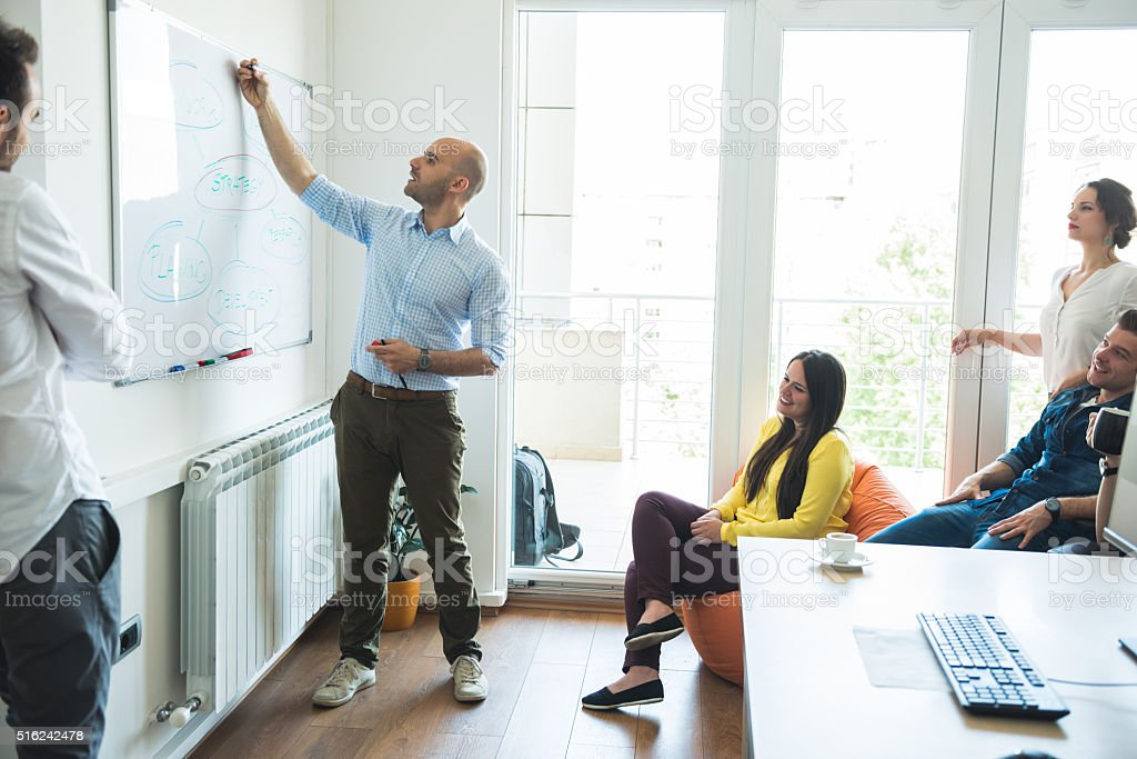 Making a business strategy stock photo